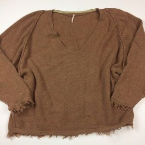 Free People Irresistible V Sweater in Terracotta